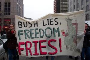 Freedomfriesprotestsign